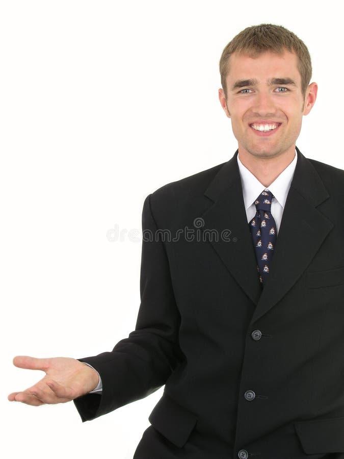 gesturing бизнесмена стоковое изображение rf