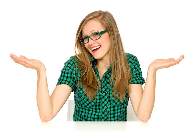 Gesturing девушка Стоковая Фотография RF