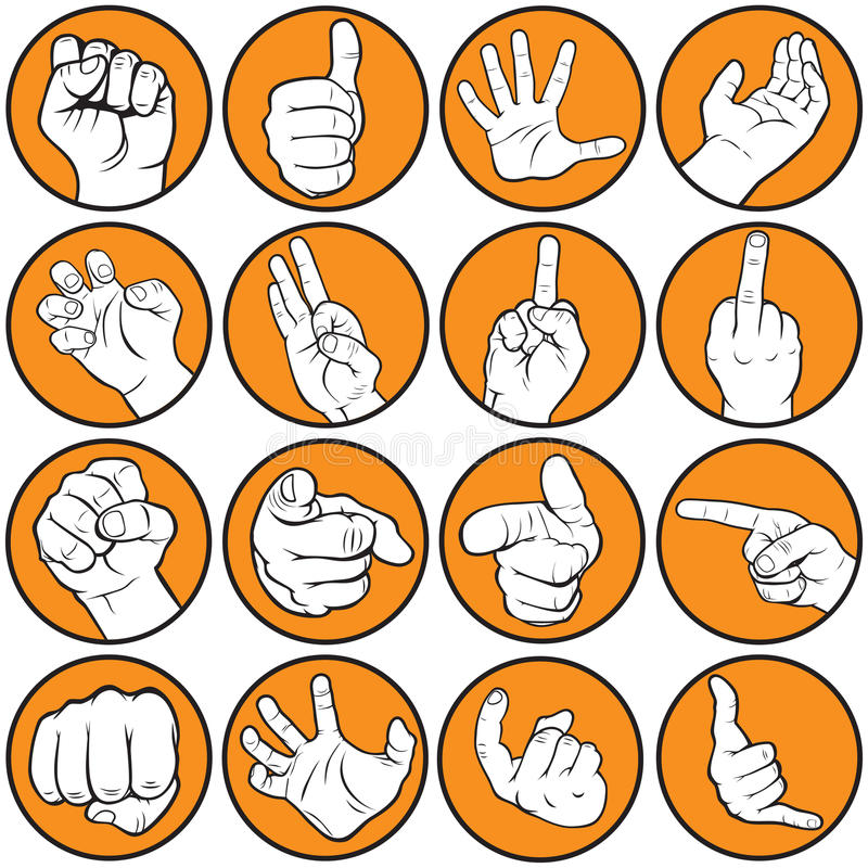 Gesturing руки иллюстрация штока