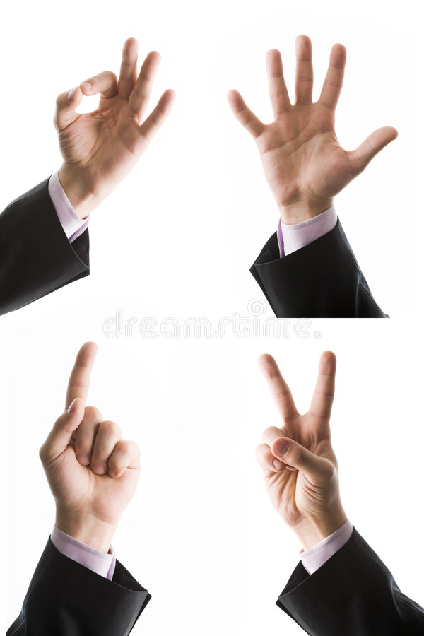 Download Gesturing stock image. Image of collage, isolated, number - 7577541