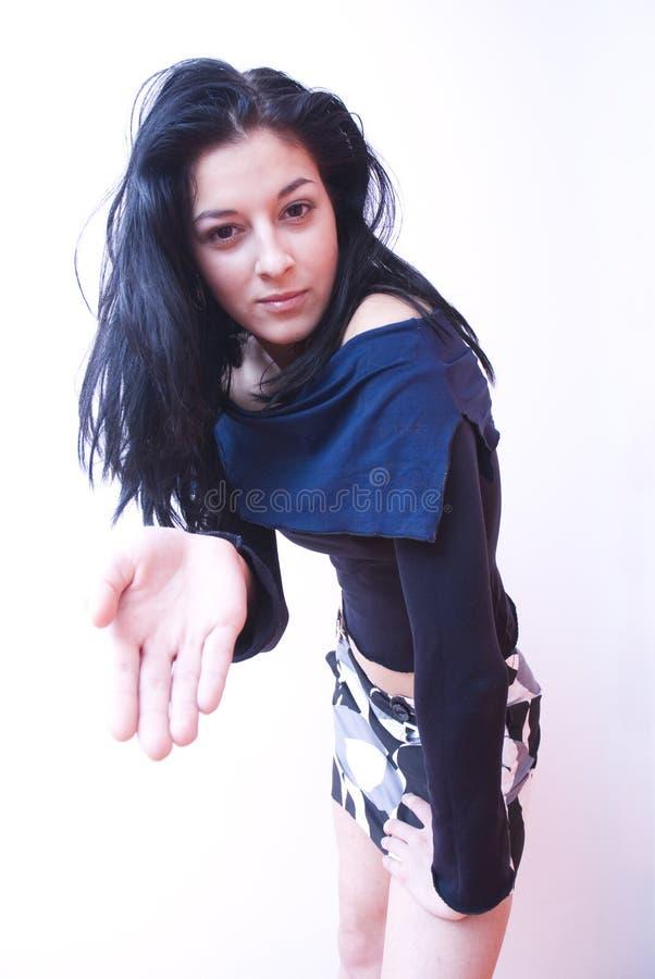 Gesturing della donna immagini stock libere da diritti