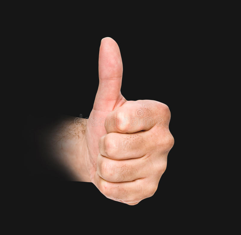 Download Gesturing hand stock image. Image of approval, black - 16554095