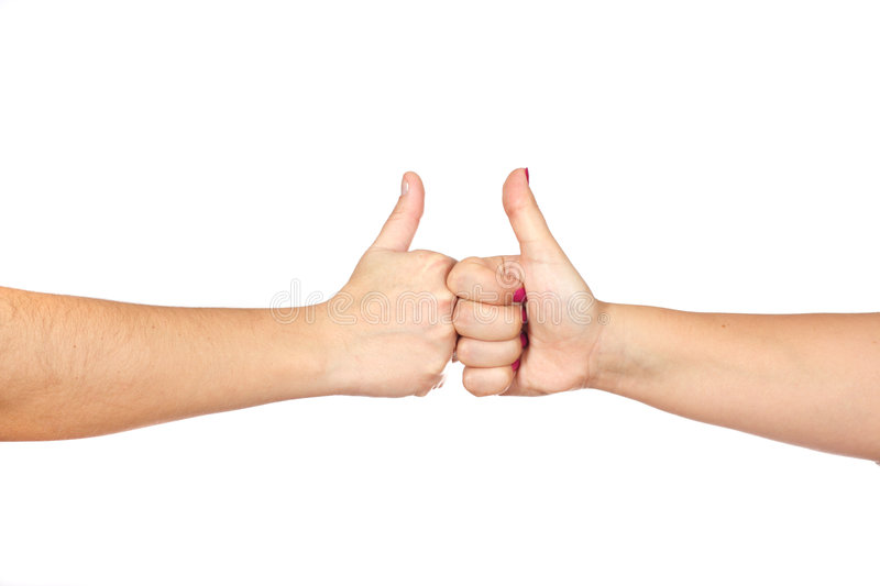 Gesturing Hands OK Royalty Free Stock Photography