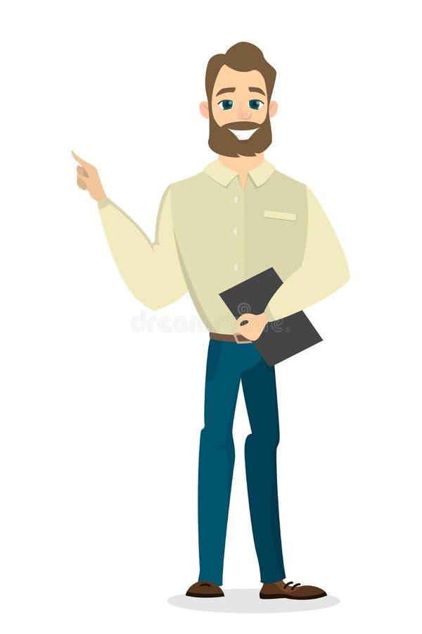 Gesturing isolato dell'uomo d'affari royalty illustrazione gratis