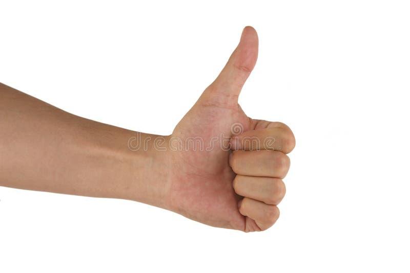 Gesturing Man Hand OK Stock Photos