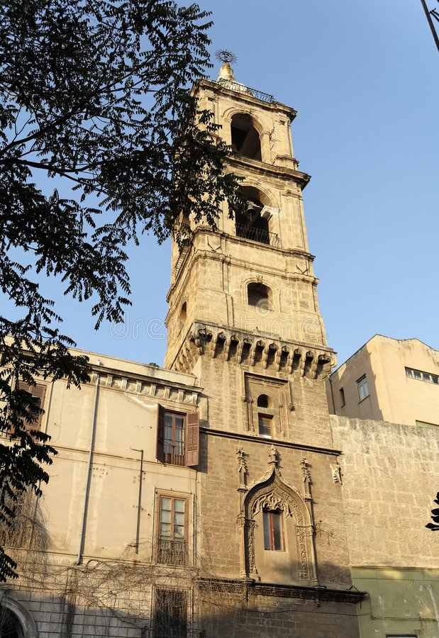 Download Gesu Church Bell Tower Palermo Stock Photography - Image: 1423792