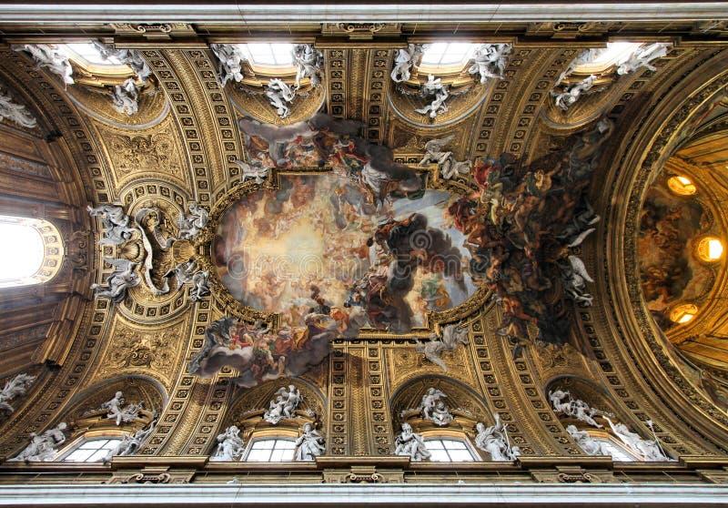 Gesu Church, Rome stock images