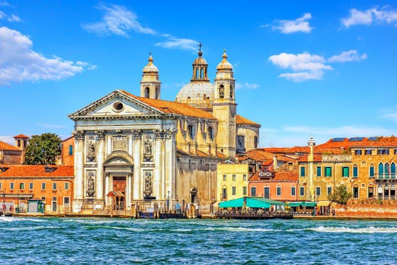 Gesuati kościół na Guidecca wyspie w Wenecja, Włochy obrazy royalty free