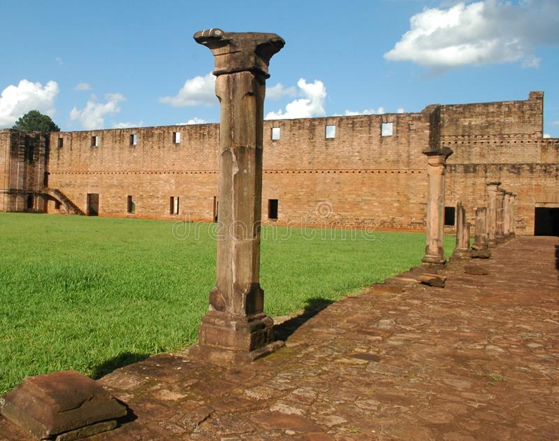 Gesuita Trinidad Mission, Paraguay fotografie stock libere da diritti