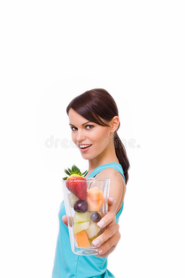 Gesund-Junge Frau lizenzfreie stockbilder