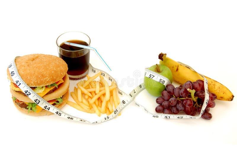 Gesund oder ungesund? lizenzfreie stockbilder