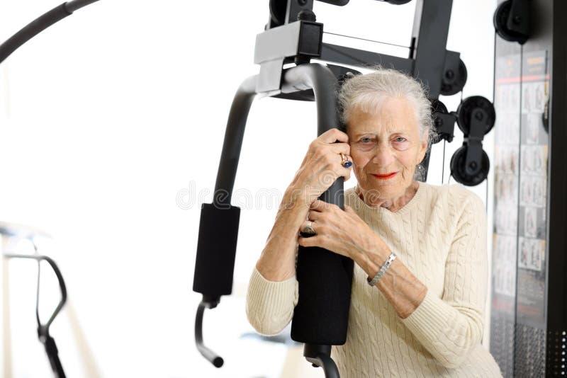 Gesunde ältere Frau lizenzfreie stockbilder