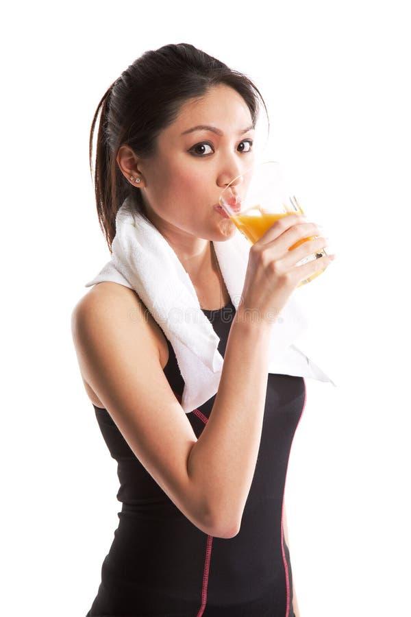 Gesunde asiatische Frau stockfoto