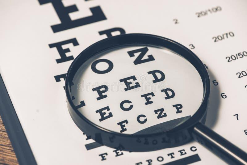 Gesunde Augen Sehtafel und Medizin lizenzfreie stockbilder