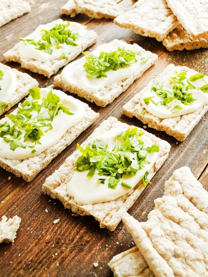 Gesunde Brotsnäcke lizenzfreies stockfoto