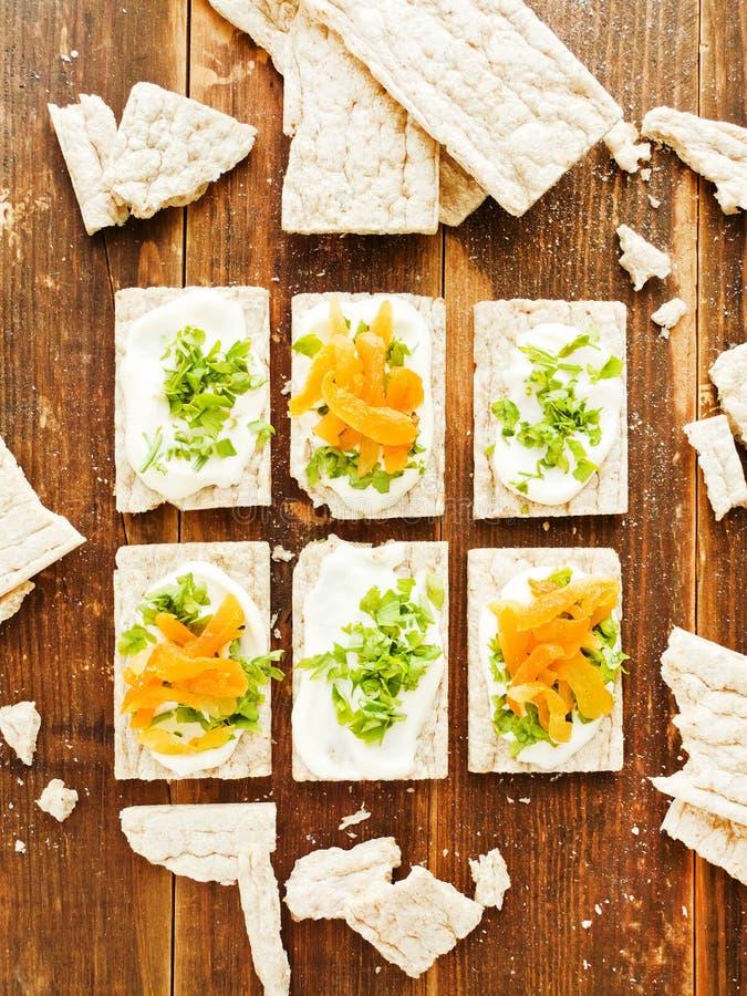 Gesunde Brotsnäcke lizenzfreie stockfotos