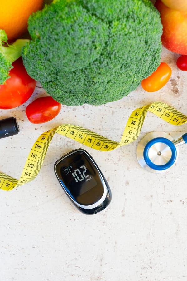 Gesunde Diät des Diabetes stockbilder