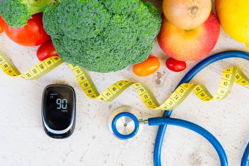 Gesunde Diät des Diabetes lizenzfreie stockfotos