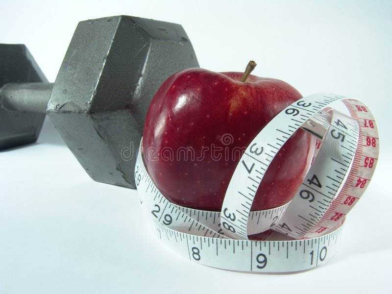 Gesunde Diät u. Übung stockfotografie