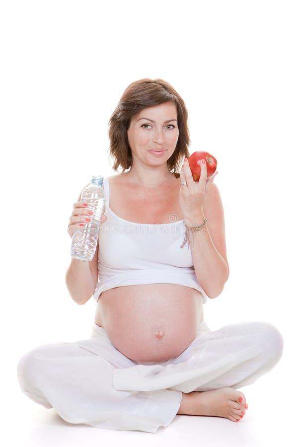 Gesunde Ernährung in der Schwangerschaft lizenzfreies stockfoto