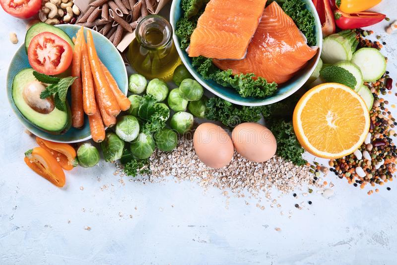 Gesunde Ernährung mit Ballaststoffen, Antioxidantien lizenzfreies stockfoto