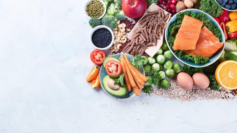Gesunde Ernährung mit Ballaststoffen, Antioxidantien lizenzfreies stockbild