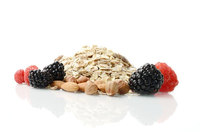 Gesunde Frühstücks-Bestandteile lizenzfreies stockbild
