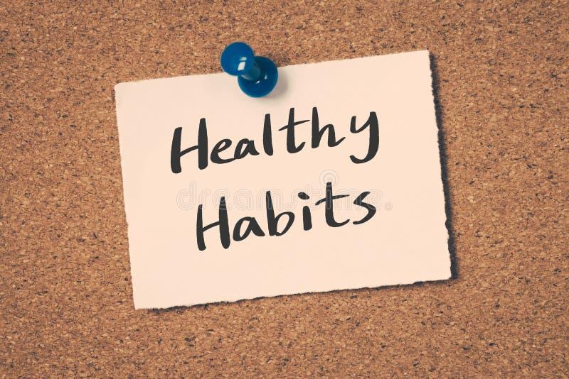 Gesunde Gewohnheiten lizenzfreies stockbild
