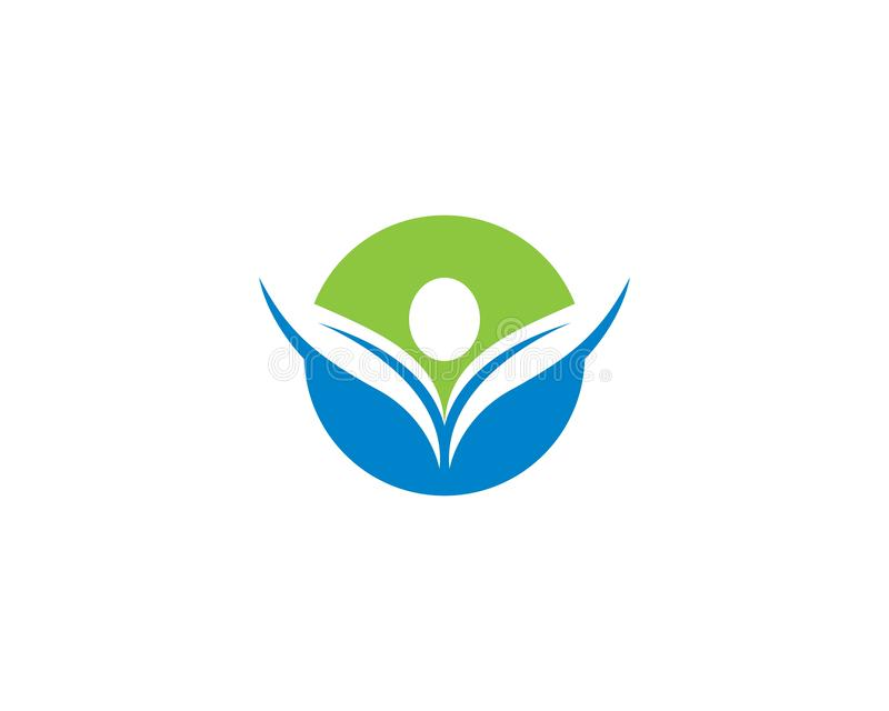 Gesunde Leben-Logoschablone stock abbildung