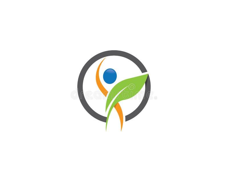 Gesunde Leben-Logoschablone vektor abbildung