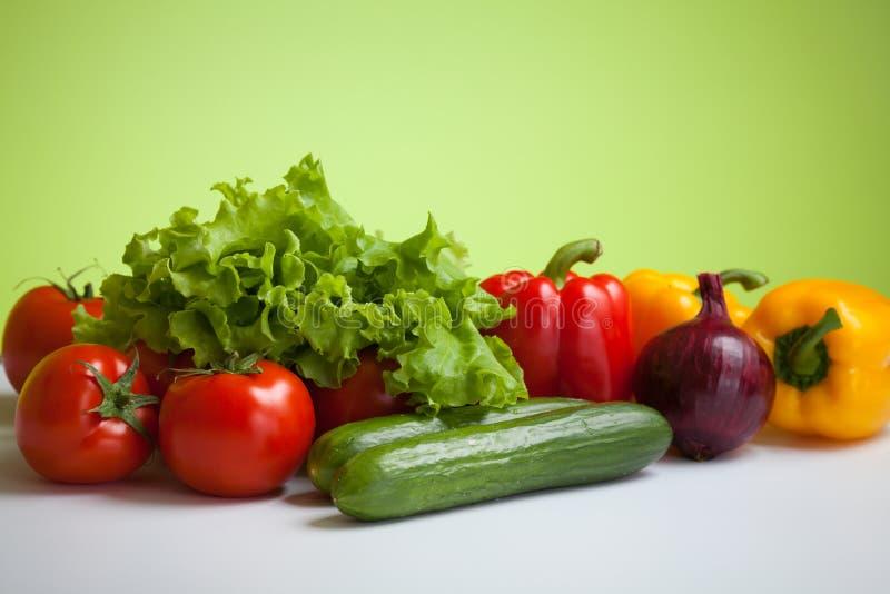 gesunde Lebensdauer des Nahrungsmittelfrischgemüses noch lizenzfreie stockbilder