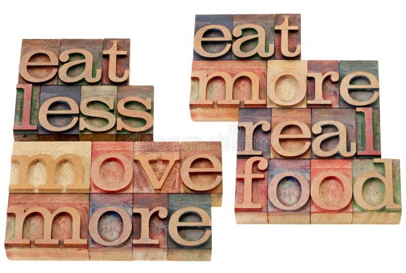 Gesunde Lebensstilanzeigen stockfotos