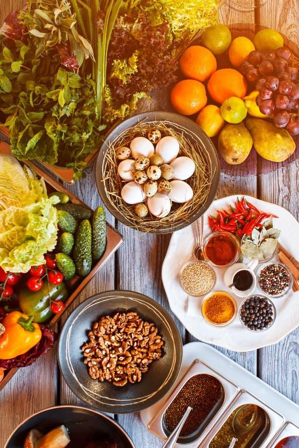Gesunde Mahlzeit für einen Feinschmecker stockbild