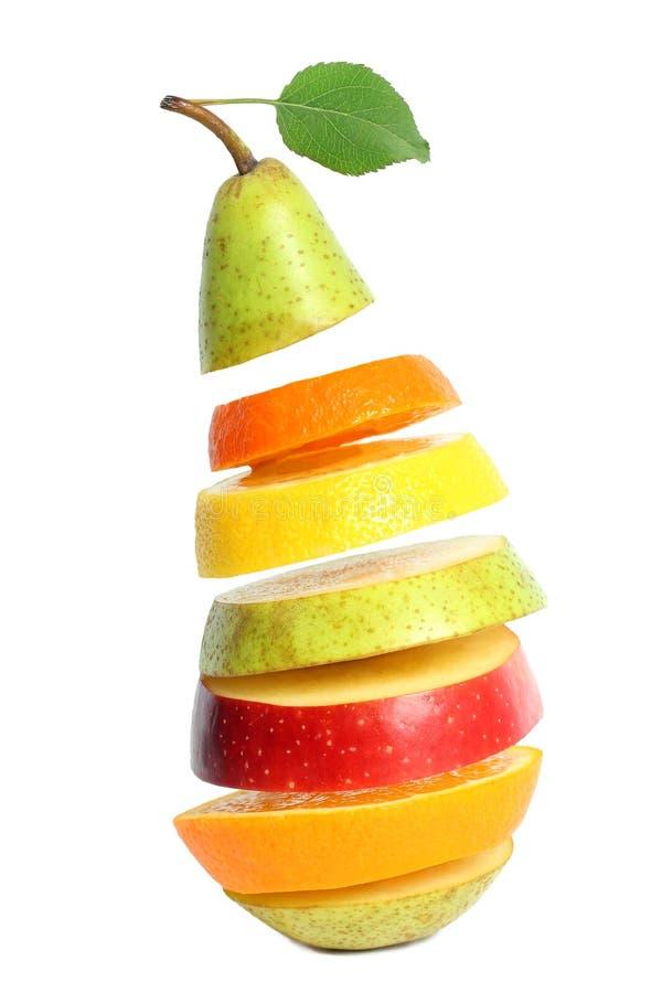 Gesunde Mischfrucht getrennt stockbild