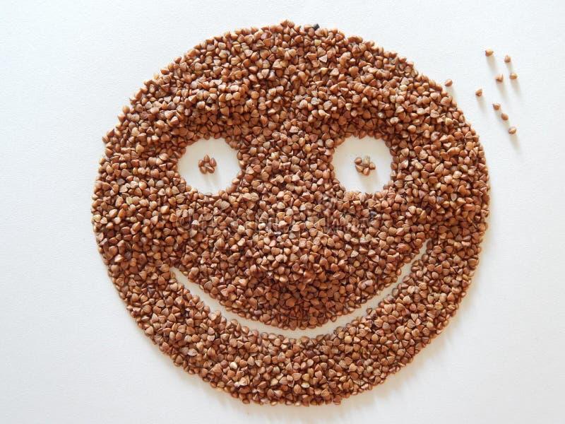 Gesunde Nahrung Nettes Lächeln stockbild