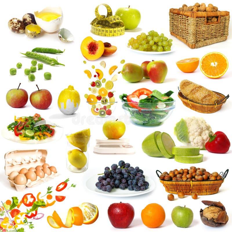 Gesunde Nahrungsmittelansammlung lizenzfreie stockfotografie