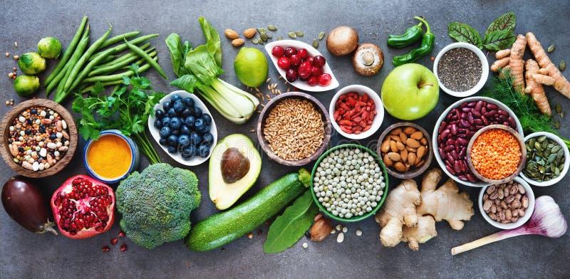 Gesunde Nahrungsmittelauswahl lizenzfreies stockfoto