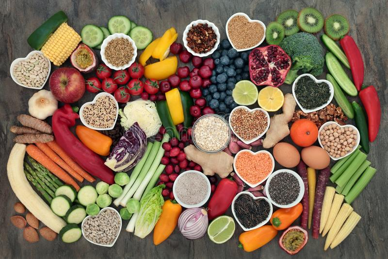 Gesunde Nahrungsmittelwahl stockbild