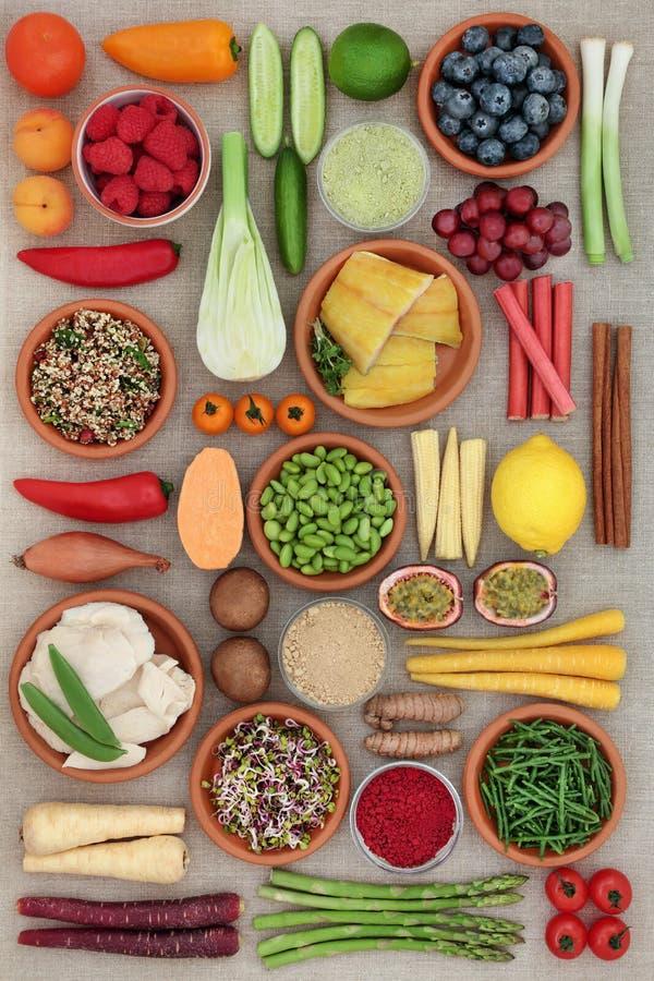 Gesunde Nahrungsmittelwahl lizenzfreie stockbilder