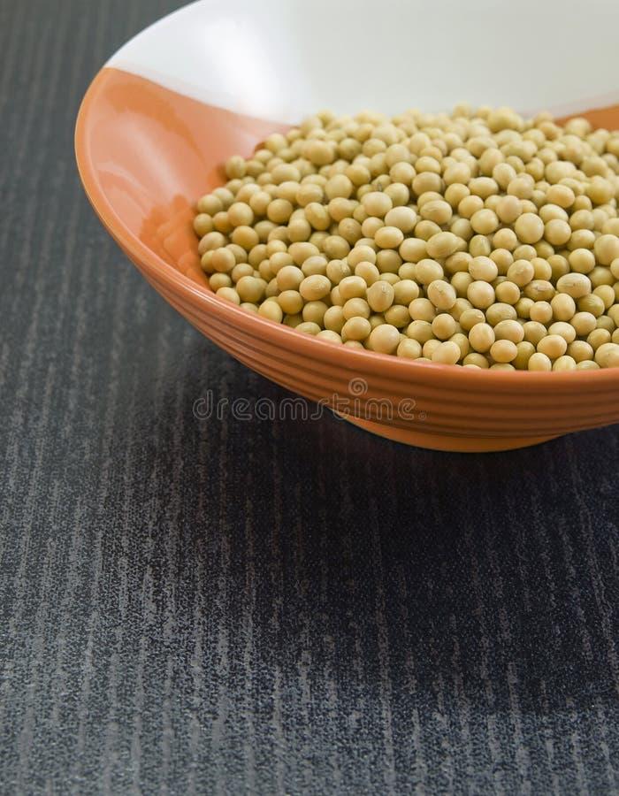 Gesunde organische Sojabohnen. lizenzfreie stockfotos
