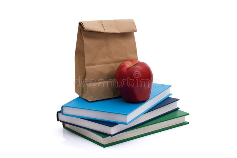 Gesunde Schulmahlzeit lizenzfreies stockbild