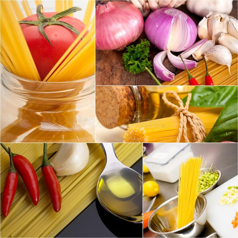 Gesunde vegetarische Lebensmittelcollage des strengen Vegetariers lizenzfreie stockbilder