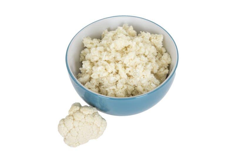 Gesunder frischer Blumenkohl-Reis lizenzfreie stockfotos