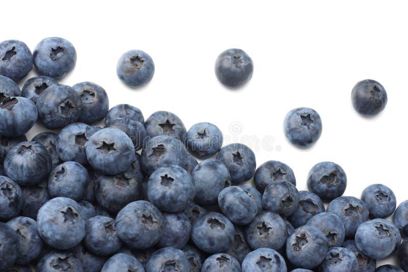 Gesunder Hintergrund Blaubeeren getrennt auf weißem Hintergrund Beschneidungspfad eingeschlossen stockfotografie