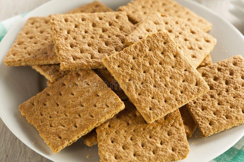 Gesunder Honey Graham Crackers lizenzfreie stockfotos