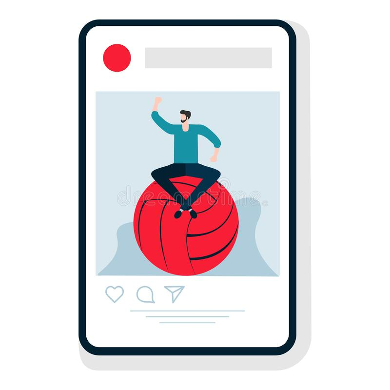 Gesunder Lebensstil Leute Smartphonesport App lizenzfreie abbildung