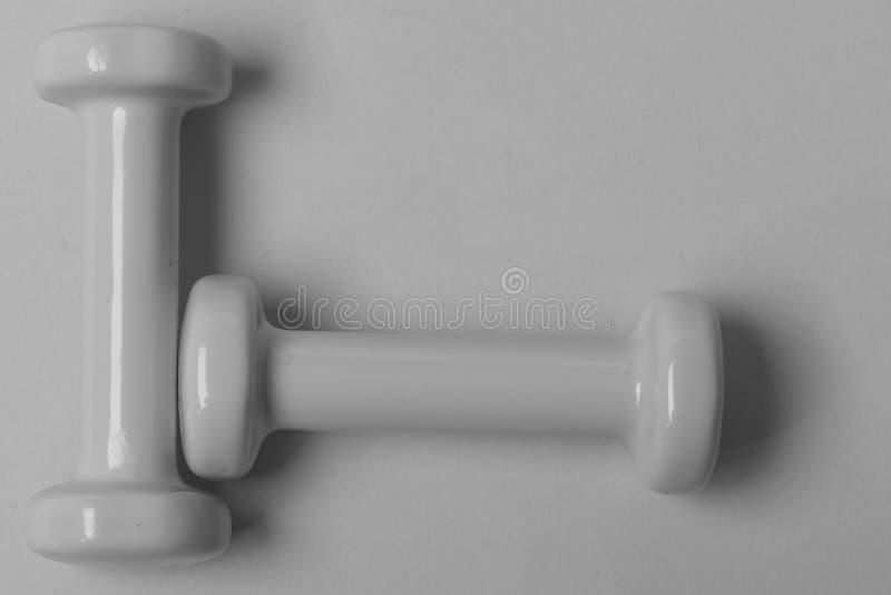 Gesunder Lebensstil und Sportkonzept Barbells in kleinem stockbilder