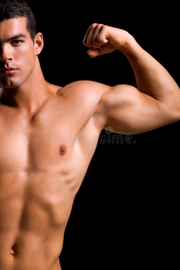 Gesunder muskulöser junger Mann lizenzfreies stockbild