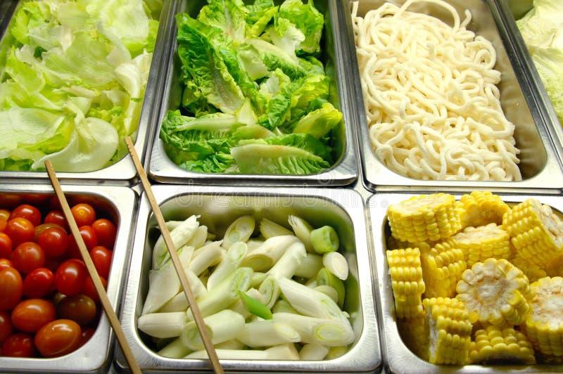Gesunder Salat-Stab lizenzfreie stockfotografie
