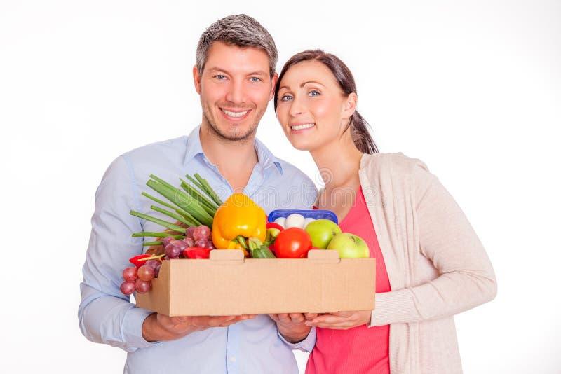 Gesunder Vegetarier stockfotos